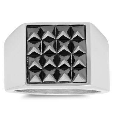 jcpenney.com | Mens Black Cubic Zirconia Stainless Steel Band
