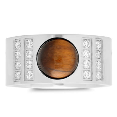 jcpenney.com | Mens Tiger's Eye Stainless Steel Band
