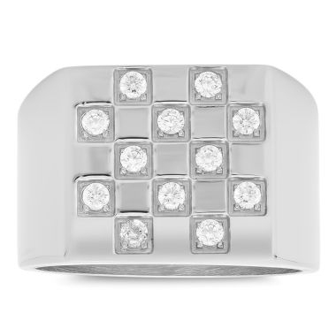 jcpenney.com | Mens White Cubic Zirconia Stainless Steel Band