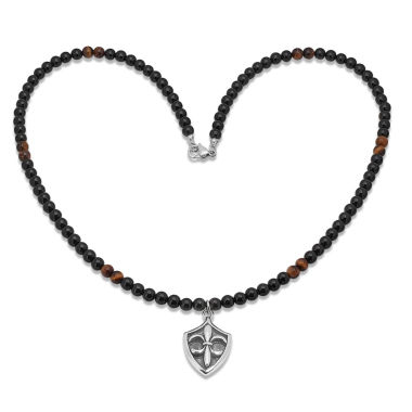 jcpenney.com | Mens Multi Color Tiger'S Eye Stainless Steel Pendant Necklace