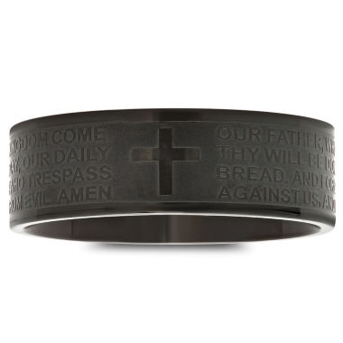 jcpenney.com | Mens Stainless Steel Lor's Prayer Band