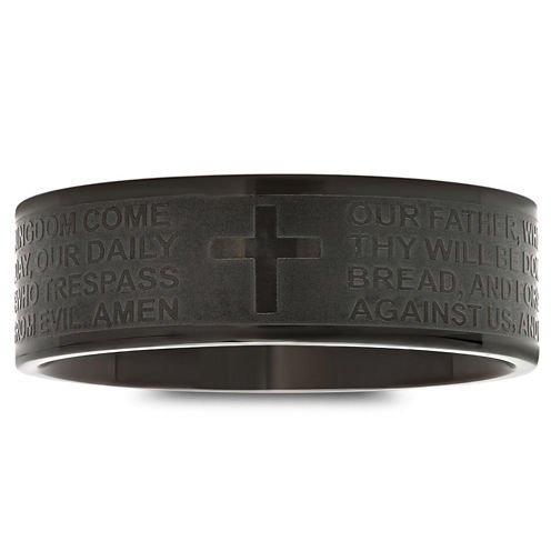 Mens Stainless Steel Lor's Prayer Band