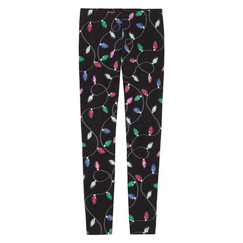 Total Girl Pattern Knit Leggings - Big Kid Girls