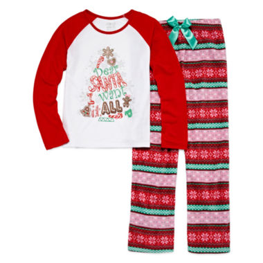 jcpenney.com | Starride Kids Girls Long Sleeve Pant Pajama Set-Big Kid
