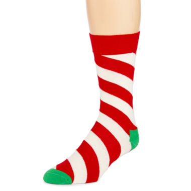 jcpenney.com | HS® by Happy Socks Mens Holiday Crew Socks