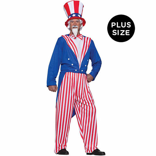 Buyseasons Uncle Sam 4-pc. Dress Up Costume Plus