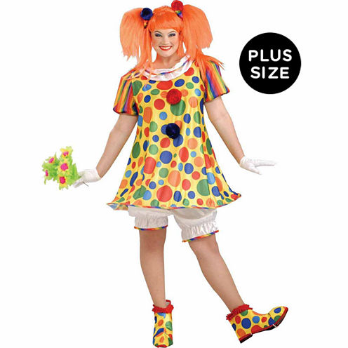 Giggles The Clown 4-pc. Dress Up Costume Plus
