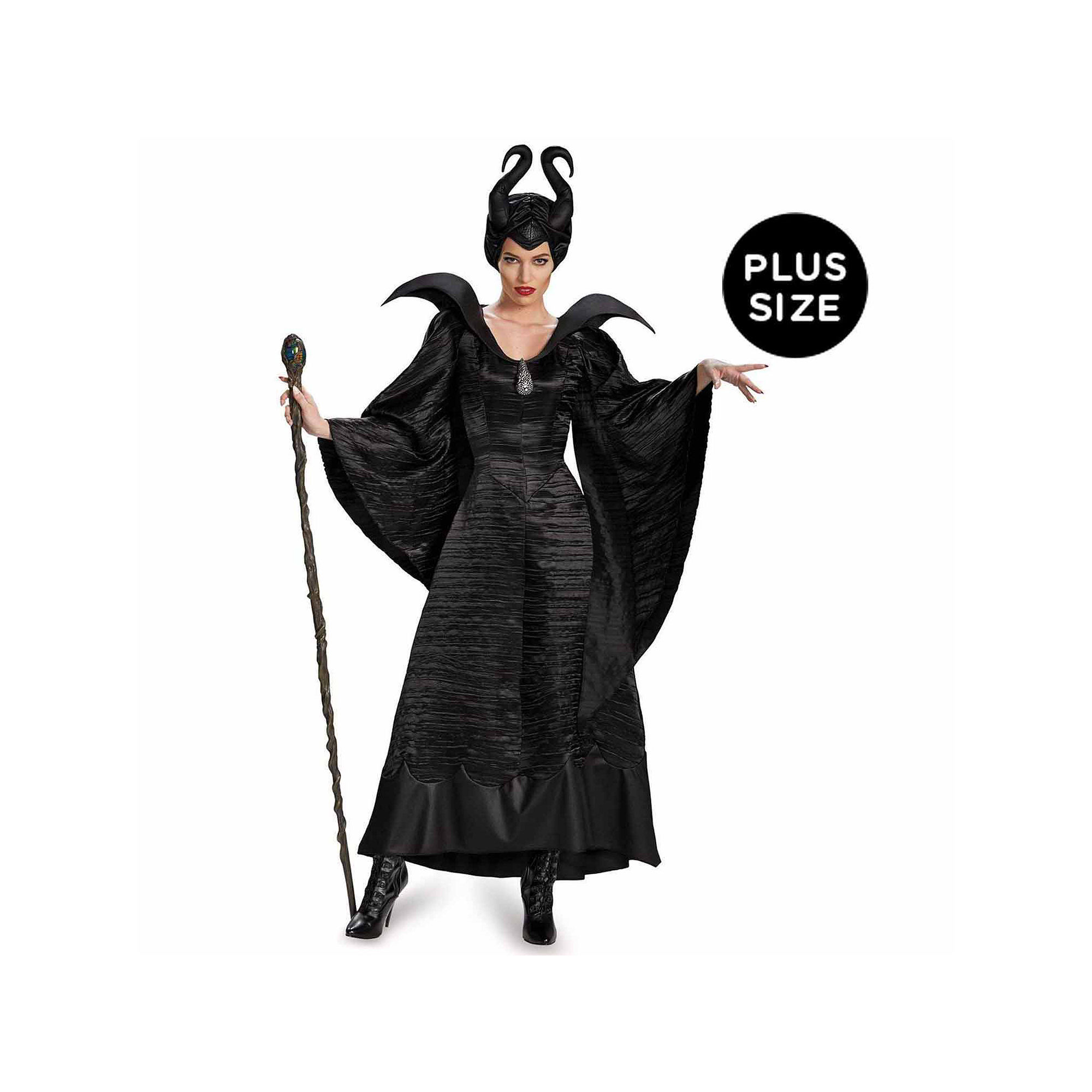 Maleficent Deluxe Christening Black Gown Adult Plus Costume plus size,  plus size fashion plus size appare