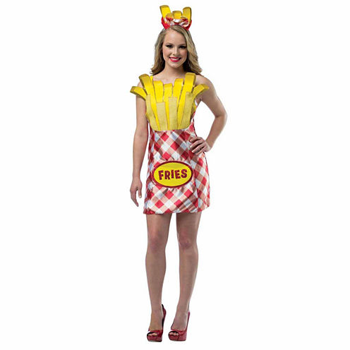 French Fries Womens Dress Costume - One-Size