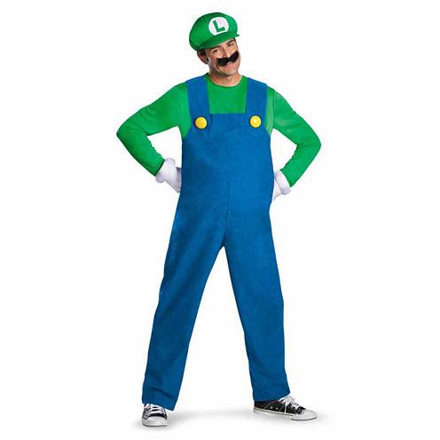Super Mario Brothers - Luigi Adult Costume - X-Large (42-46)
