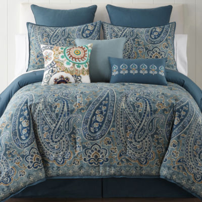 Jcpenney Home Belcourt 4 Pc Comforter Set Color Blue