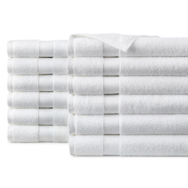 jcpenney.com | JCPenney Home™ Commercial Set of 12 Hand Towels