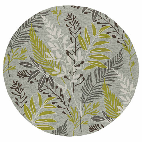 Kaleen Home And Porch Mod Leaf Hand Tufted Round Rugs