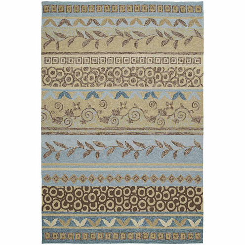 Kaleen Home And Porch Stripes Hand Tufted Rectangular Rugs