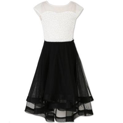 Speechless Sleeveless Cap Sleeve Party Dress - Big Kid Girls