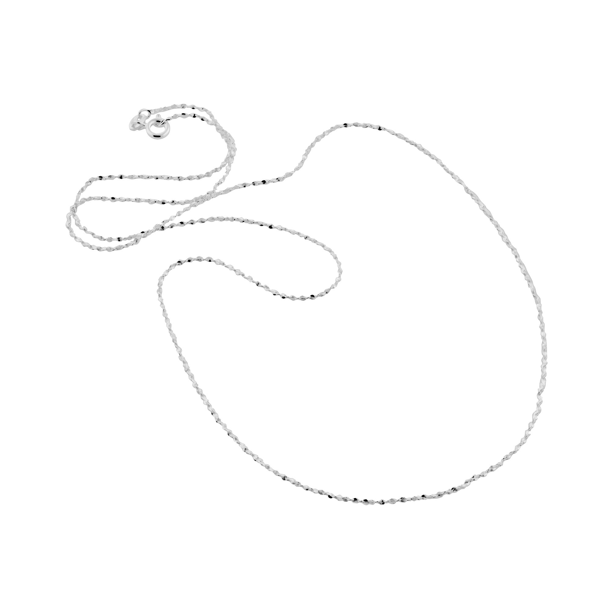 Made in Italy Sterling Silver 20 1mm Twisted Serpentine Chain
