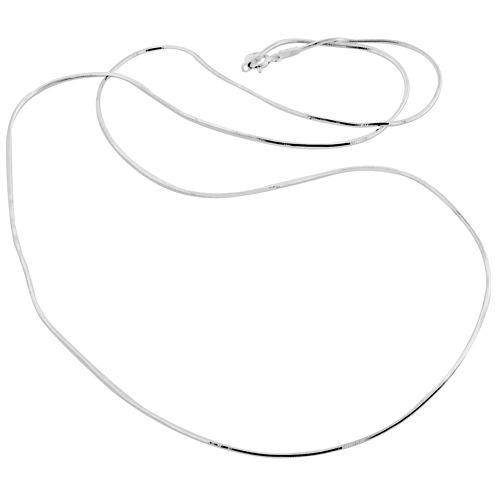 """Made in Italy Sterling Silver 24"""" 1.1mm Snake Chain"""