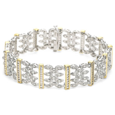 jcpenney.com | 10K Gold-Plated Silver 1 CT. T.W. Diamond Bracelet
