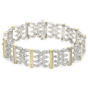 10K Gold-Plated Silver 1 CT. T.W. Diamond Bracelet