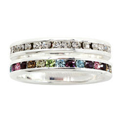 city x city® Clear & Multicolor Crystal Eternity Band Set
