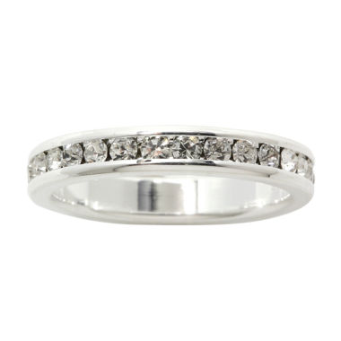 jcpenney.com | city x city® Crystal Pure Silver-Plated Eternity Band Ring