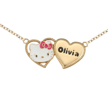 jcpenney.com | Hello Kitty® Personalized Girls Two Heart Necklace