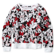 Minnie Mouse Faces Sweatshirt - Girls