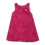 Marmellata Soutache Shift Dress - Girls 3m-12m