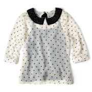 Sally M™ Sally Miller Jewel-Collar Polka Dot Top - Girls 6-16