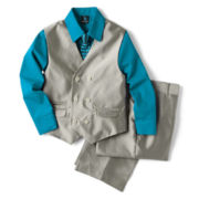 Steve Harvey® Herringbone Vest Set - Boys 8-18
