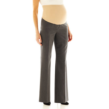 duo Maternity Overbelly Wide Leg Career Pants