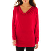 nicole by Nicole Miller® Draped Dolman-Sleeve Knit Top