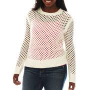 Arizona Mesh-Stitch Sweater