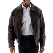 Excelled® Lambskin Leather Open-Bottom Jacket