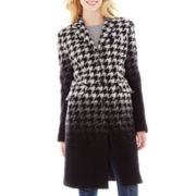Liz Claiborne® Wool-Blend Chesterfield Coat - Petite