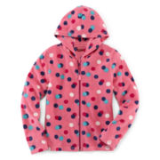 Arizona Comfy Fleece Full-Zip Hoodie - Girls 6-16