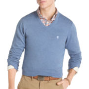 IZOD® Solid Fine-Gauge V-Neck Sweater