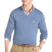 IZOD® Solid Fine-Gauge V-Neck Sweater