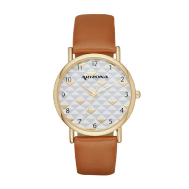 jcpenney.com | Arizona Womens Brown Strap Watch-Fmdarz135