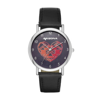 jcpenney.com | Arizona Womens Black Strap Watch-Fmdarz138
