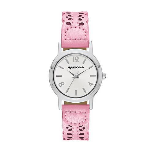 Arizona Womens Pink Strap Watch-Fmdarz147