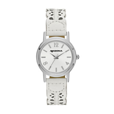 jcpenney.com | Arizona Womens White Strap Watch-Fmdarz148