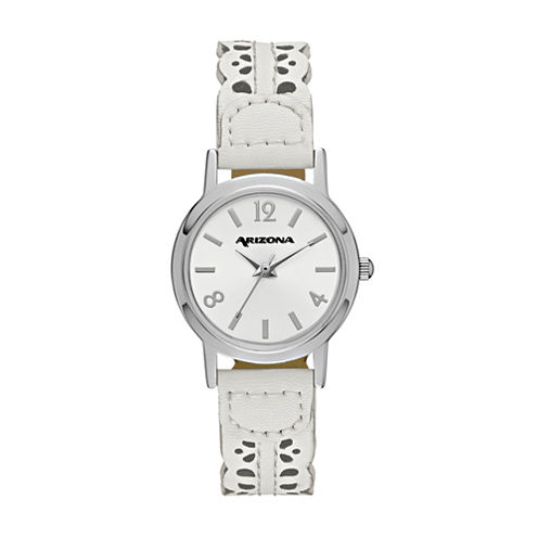 Arizona Womens White Strap Watch-Fmdarz148