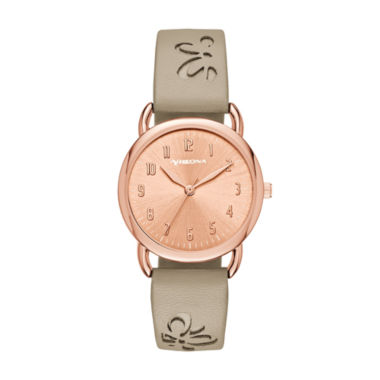jcpenney.com | Arizona Womens Brown Strap Watch-Fmdarz149