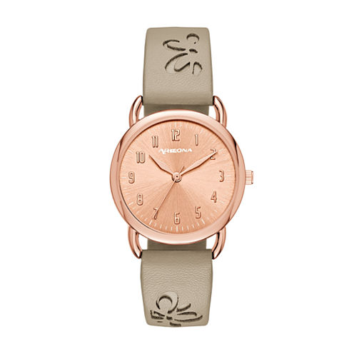 Arizona Womens Brown Strap Watch-Fmdarz149