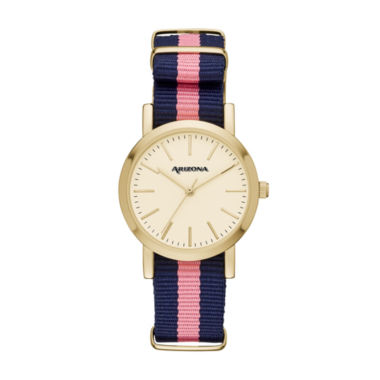 jcpenney.com | Arizona Womens Pink Strap Watch-Fmdarz152