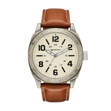 jcpenney.com | Arizona Mens Brown Strap Watch-Fmdarz535