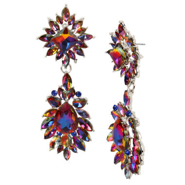 jcpenney.com | Bleu NYC Stone Cluster Double Drop Earrings