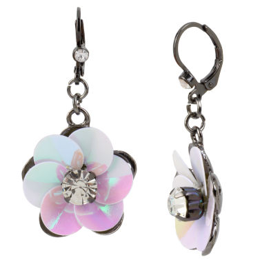 jcpenney.com | Bleu NYC Flower Drop Earrings