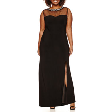 jcpenney.com | Scarlett Sleeveless Beaded Evening Gown-Plus